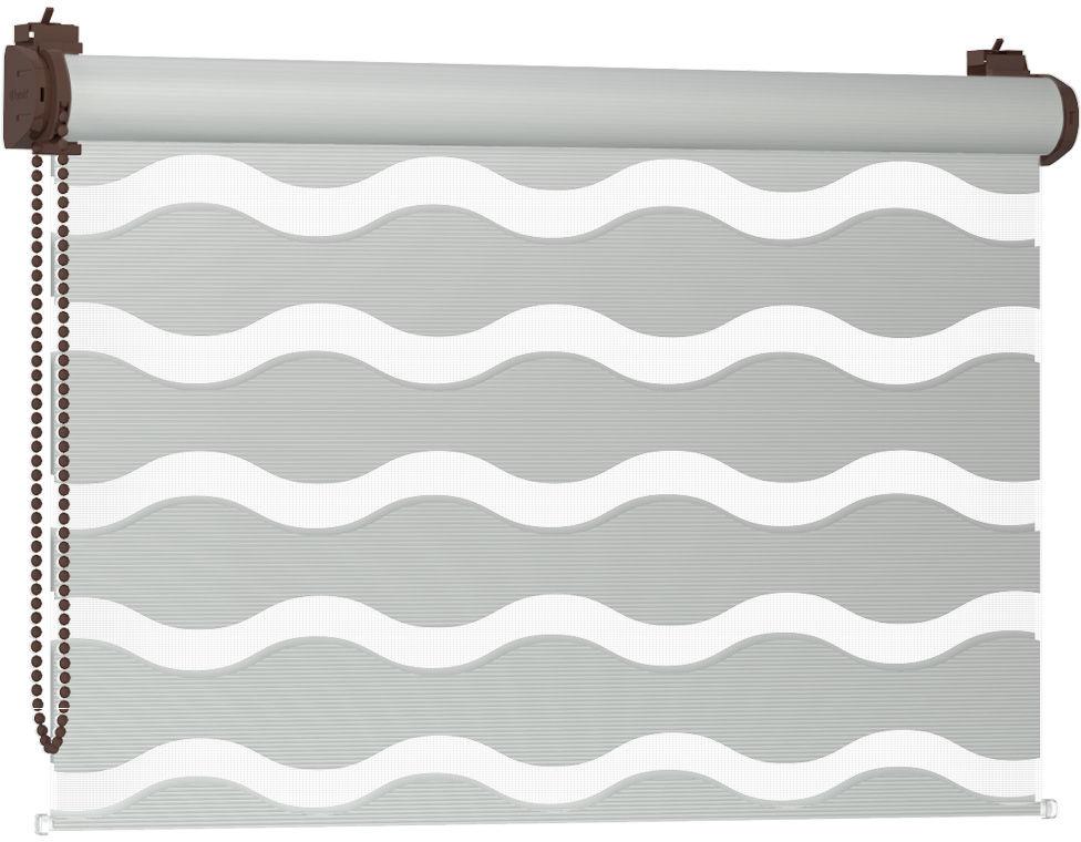Roleta Dzień Noc Bezinwazyjna WAVE - Silvery / Brązowy