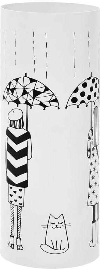 Biały ozdobny stojak na parasole - Istro 3S