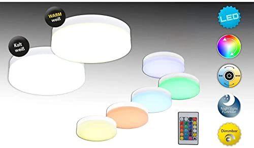 Näve Leuchten lampa sufitowa LED Cool metal, biała, 25,5 x 25,5 x 8 cm