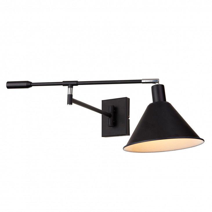 Kinkiet Trinity MB-402721-IT BL Italux czarna lampa na ścianę