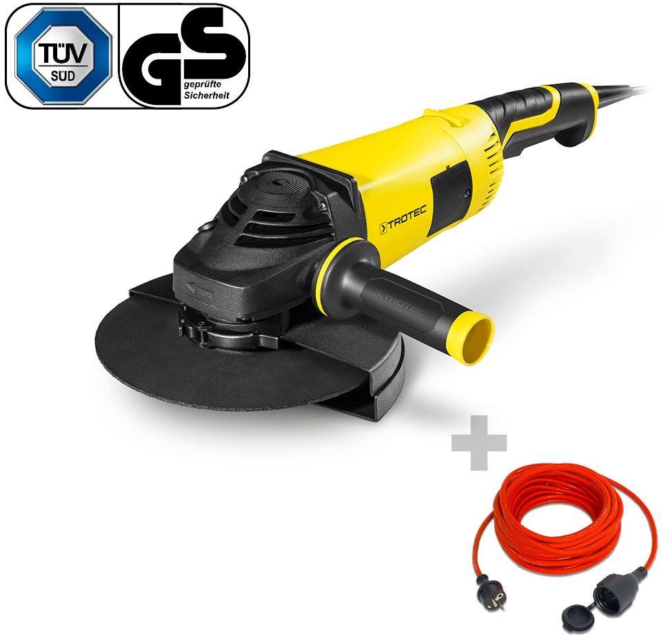 Szlifierka kątowa PAGS 10-230 + Przedłużacz jakościowy 15 m / 230 V / 1,5 mm