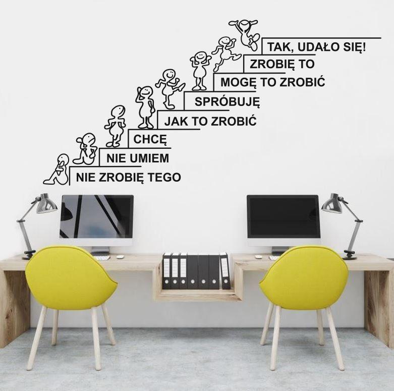 Motywujące schody - naklejka na ścianę
