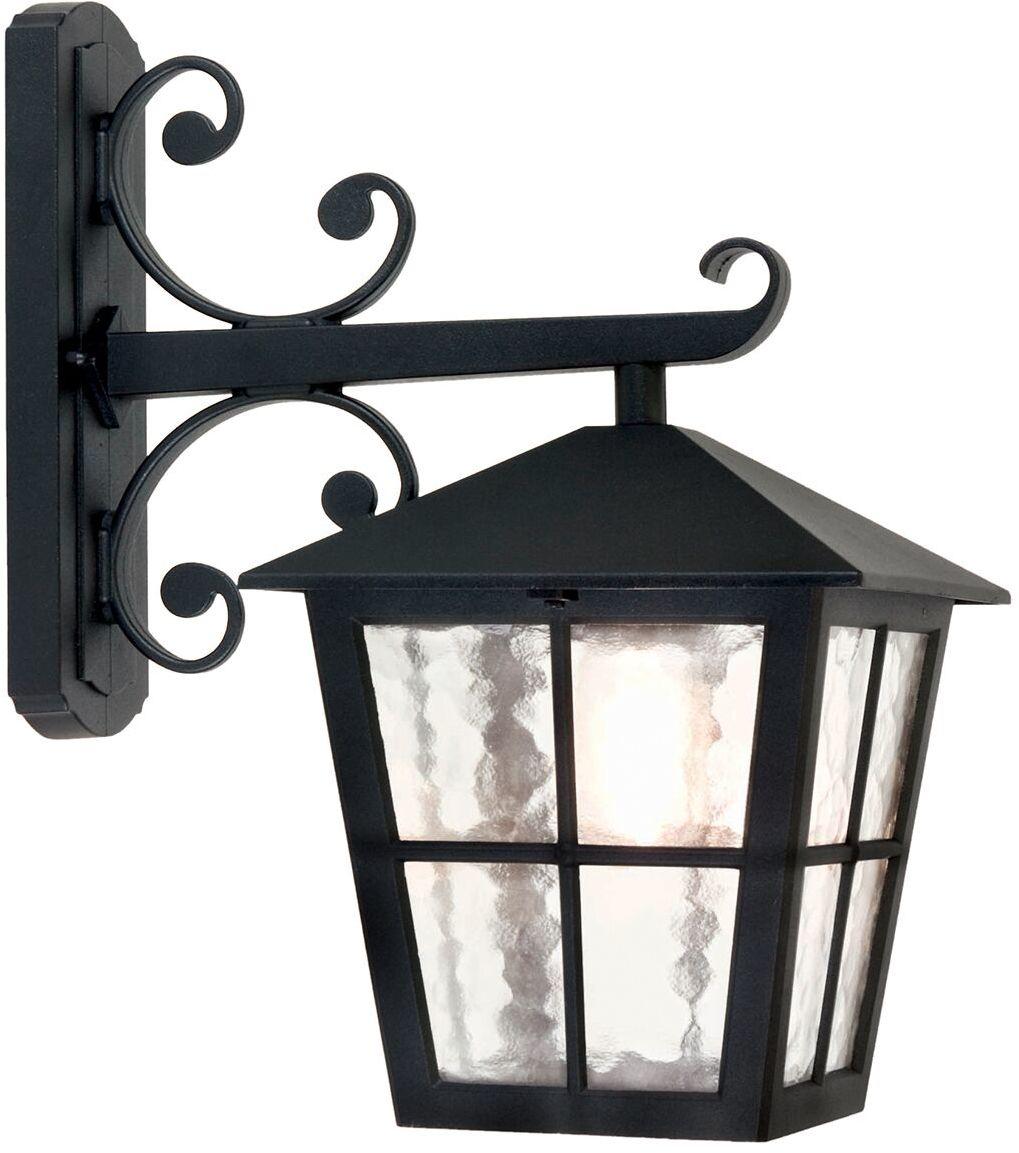 Kinkiet zewnętrzny Canterbury BL52M Elstead Lighting czarna oprawa zewnętrzna w klasycznym stylu