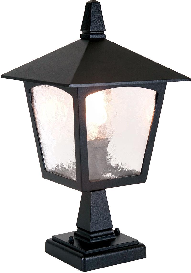 Lampa zewnętrzna stojąca York BL7 Elstead Lighting klasyczna oprawa stojąca w kolorze czarnym