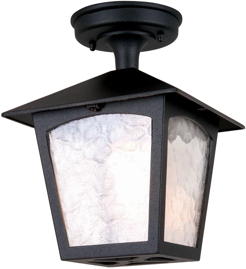 Lampa sufitowa zewnętrzna York BL6A Elstead Lighting klasyczna oprawa sufitowa w kolorze czarnym