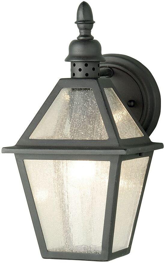 Kinkiet zewnętrzny Polruan Elstead Lighting czarna oprawa w klasycznym stylu