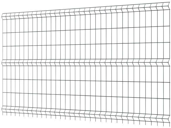 Panel ogrodzeniowy 153 x 250 cm oczko 7,5 x 20 cm ocynk antracyt