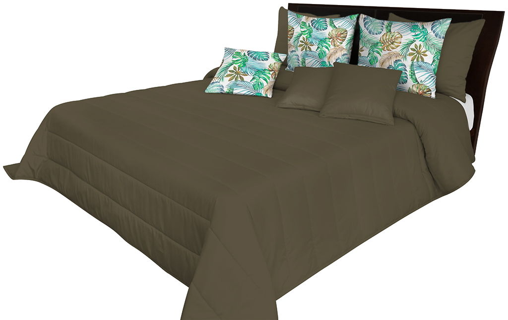Narzuta pikowana na łóżko ciemnoliwkowa NMN-002 Mariall