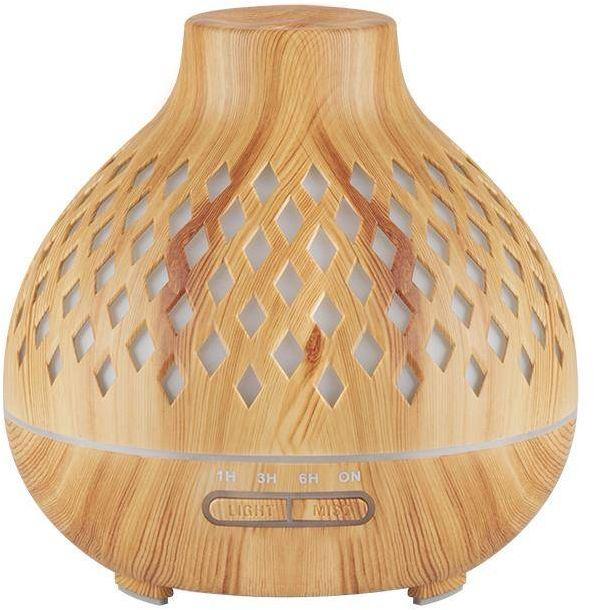 Aroma dyfuzor nawilżacz powietrza spa 10 light wood 400ml + timer