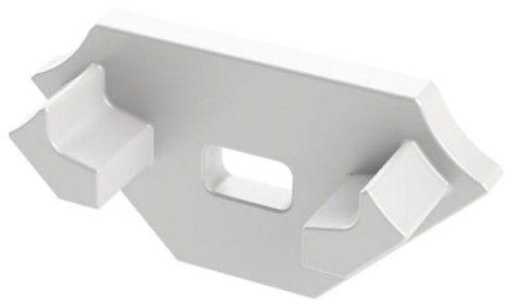 Zaślepka 1 sztuka do profilu narożnego Lumines typ C biała z otworem