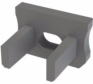 Zaślepka 1 sztuka do profilu SLIM Lumines typ X szara z otworem