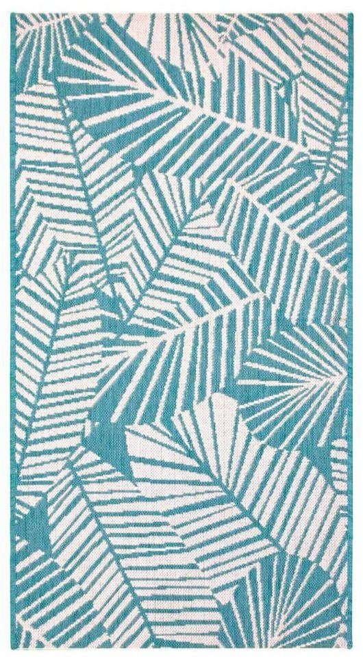Dywan zewnętrzny Haiti niebieski 80 x 150 cm