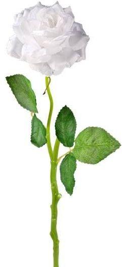 Sztuczna róża dekoracyjna biała 40cm 1 sztuka VC6002-B