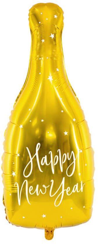 Balon foliowy Butelka szampana Happy New Year - 82 cm