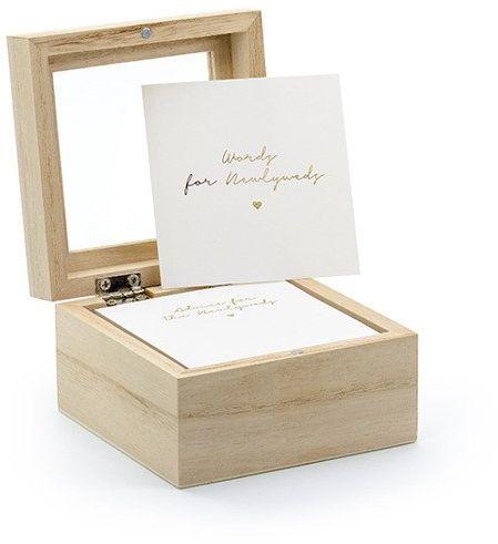 Drewniana księga gości - pudełko porady dla Nowożeńców ENG KG8