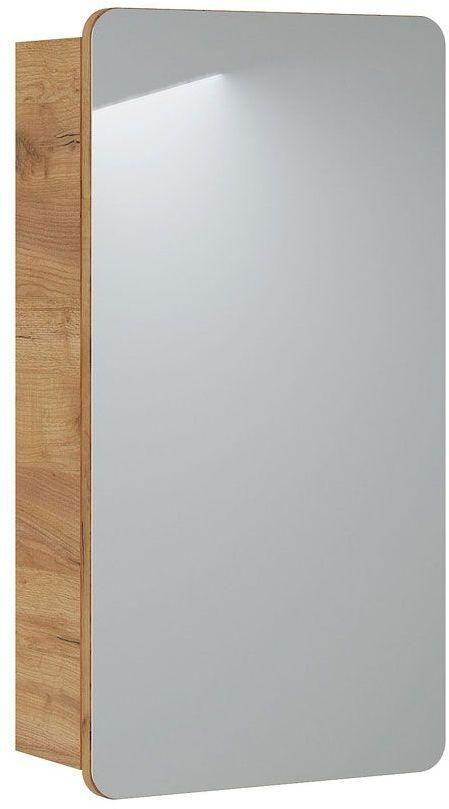 Szafka łazienkowa z lustrem Borneo 12X - dąb craft