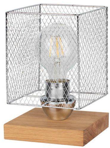 SPOTLIGHT lampa stołowa NORMAN WOOD z 1 metalowym kloszem 9175974