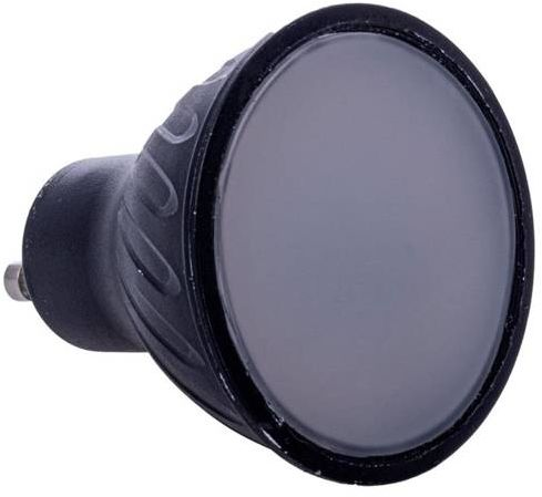 Czarna żarówka LED 7W GU10 barwa ciepła 3000K EKZA565