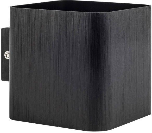 Kinkiet ścienny Izar czarny szczotkowany 1x10W G9 LED POLUX/SANICO