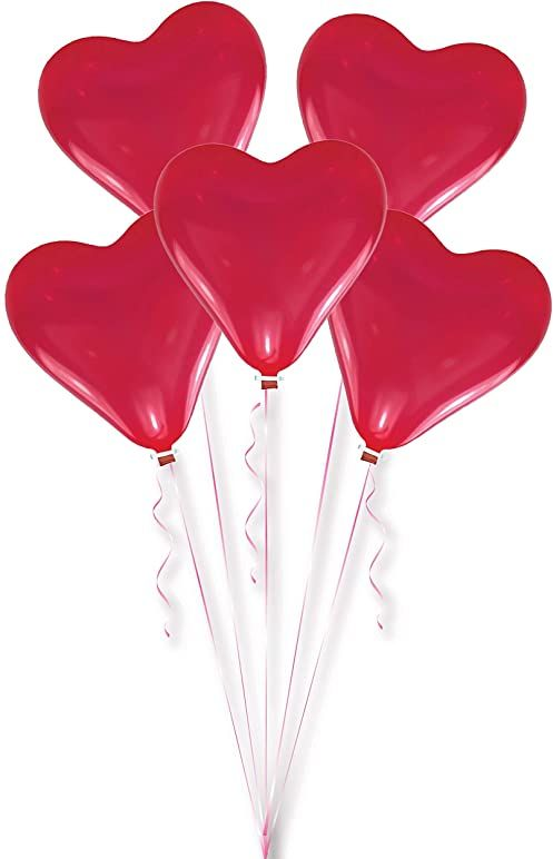 Amscan Balony lateksowe serca, czerwone