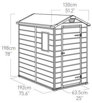 Domek plastikowy Curver Manor 4 x 6