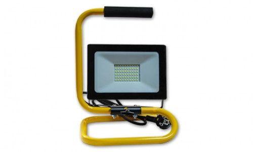 Naświetlacz LED 50W Vega biały dzienny ze stojakiem, uchwytem, kablem 2m, wtyczką