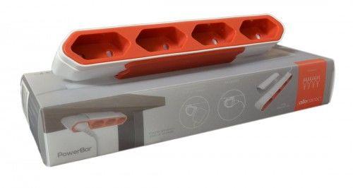 PowerBar przedłużacz, listwa zasilająca 1,5m superpłaski, czerwony