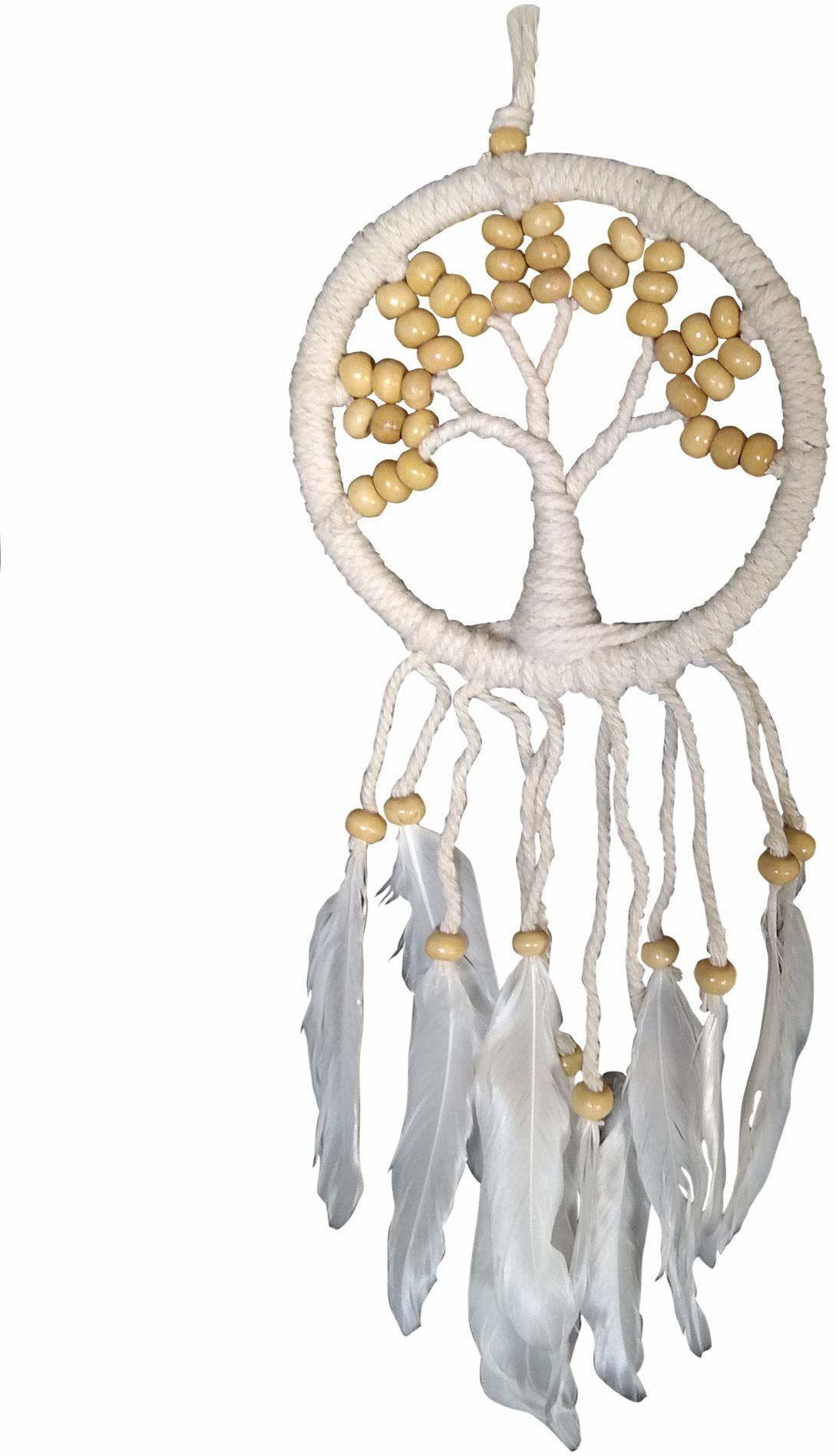 Asiastyle DC-TREEOL01-012WH-NA łapacz snów, biały, naturalny, 12 cm