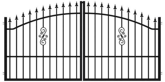 Brama dwuskrzydłowa PALERMO 300 x 150 cm POLARGOS