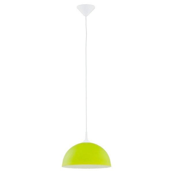 Lampa wisząca zwis szklana tuba ALBERT zielony śr. 30cm