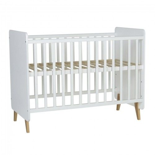 Białe łóżeczko niemowlęce Quax Loft 120x60
