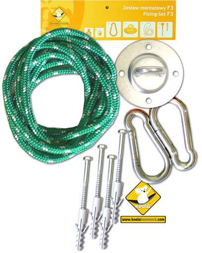 Zestaw montażowy do foteli hamakowych, zielony koala/fix/ch1
