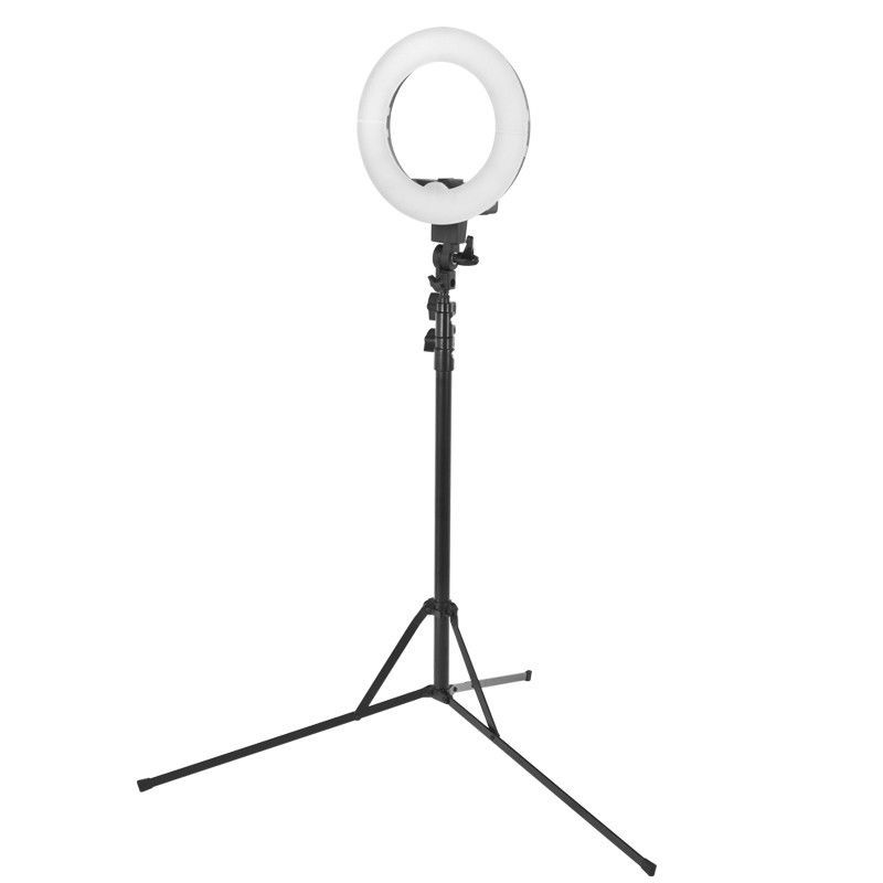 """Lampa pierścieniowa ring light 12"""" 35w led czarna + statyw"""