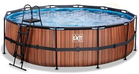 Basen Exit Wood 488 x 122cm drabinka + pompa wysoki
