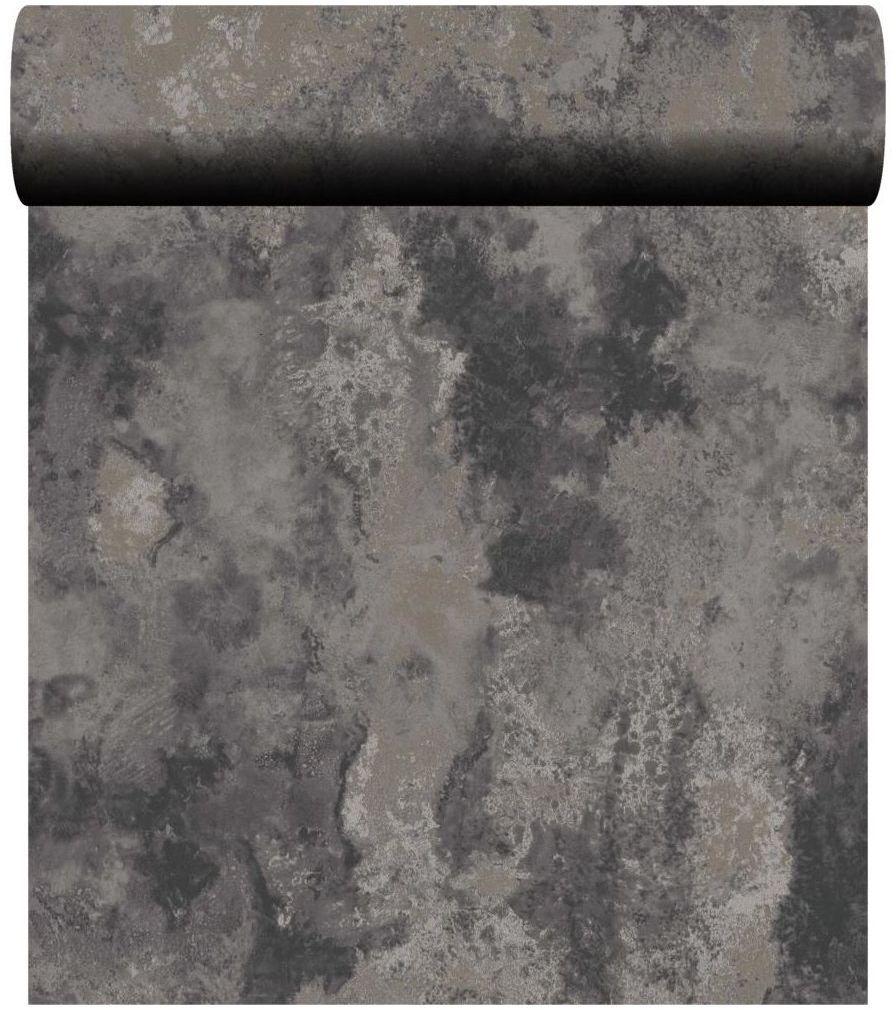 Tapeta Golden Structure szara imitacja tynku winylowa na flizelinie