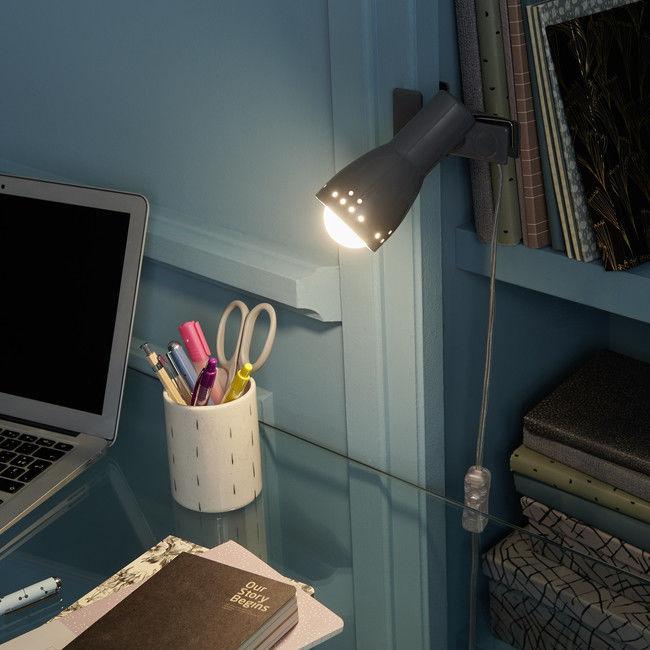 Lampka LED Colours Klawock Clip 1 x 5 W E14 szary