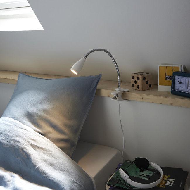 Lampka LED Colours Kulm Clip 3000 K 200 lm biała