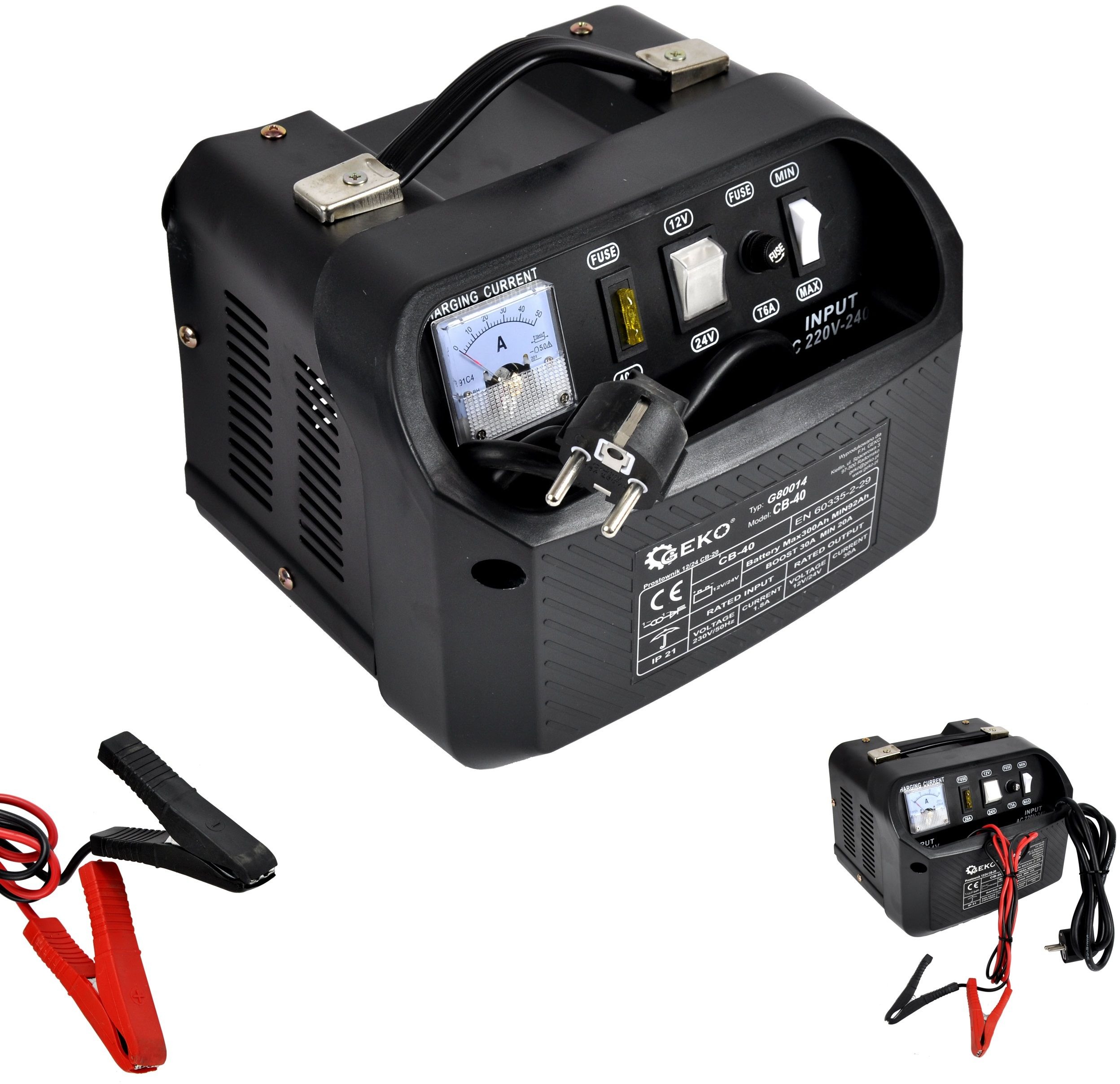 Prostownik 12V/24V 30A 300Ah ładowarka akumulatora
