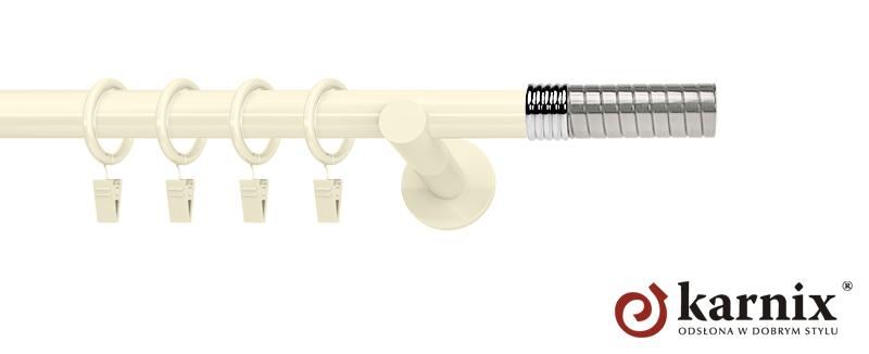 Karnisze nowoczesne NEO pojedynczy 19mm Optima ivory (kość słoniowa)