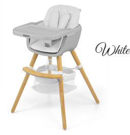 Milly Mally Krzesełko do karmienia 2w1 Espoo White