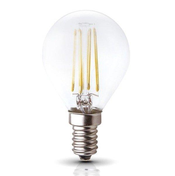 Żarówka ozdobna FILAMENT LED E14 4W ciepła 3000K kulka G45