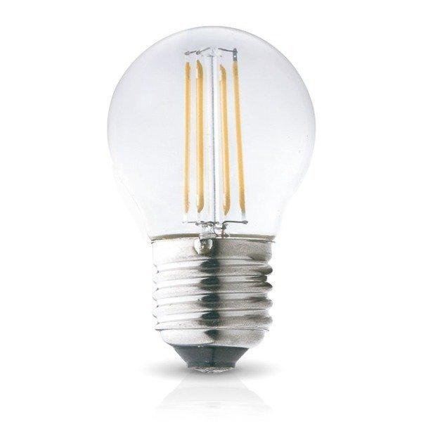 Żarówka ozdobna FILAMENT LED E27 4W ciepła 3000K G45 kulka