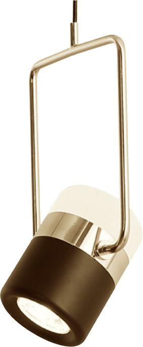Flair Black Gold - reflektor LED wiszący, dwustronny, złoto