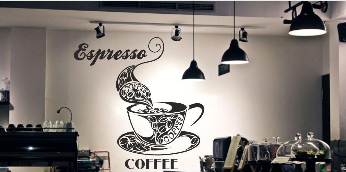 Duża filiżanka i napis Coffee Espresso
