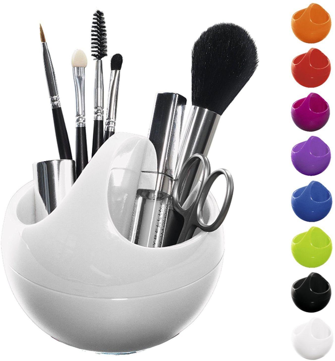 """Spirella Organizer na kosmetyki """"Bowl"""" pudełko do przechowywania kosmetyków i biżuterii 10,5 x 9,5 cm biały"""