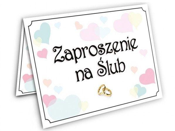 Zaproszenie ślubne 1 sztuka z kopertą zx9700