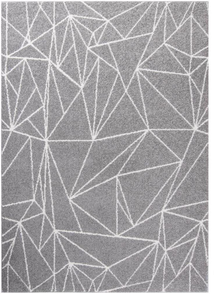 Dywan Draft szary 60 x 110 cm