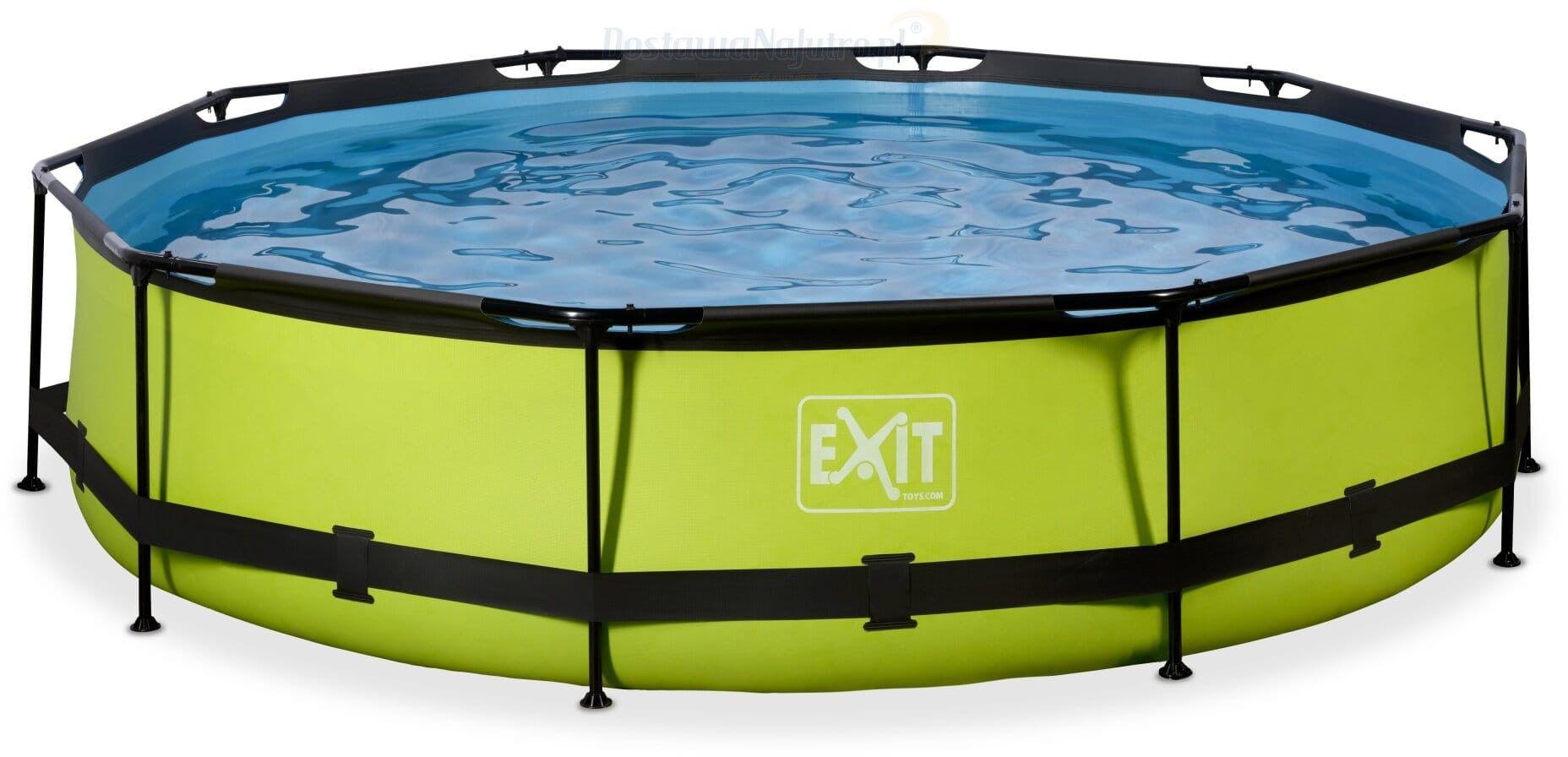 Basen Exit Lime okrągły 360 cm ogrodowy + pompa filtrująca