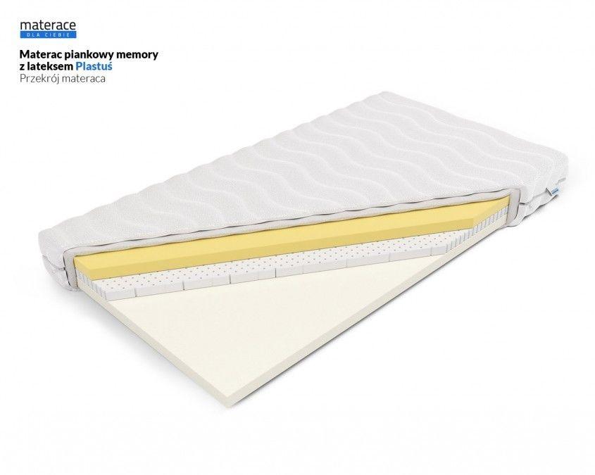 Materac piankowy memory z lateksem Plastuś Materace Dla Ciebie 80 x 180*