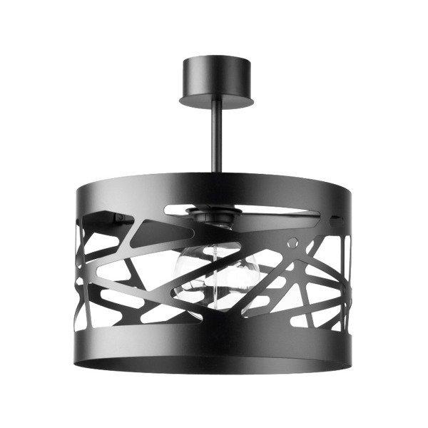 Lampa MODUŁ FREZ plafon czarna 30cm